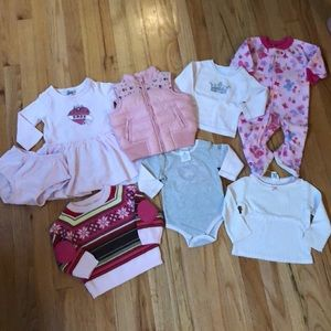 Other - Lot of 7 baby girl sz 6-12mo pieces